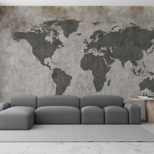 Фотообои Concrete World Map